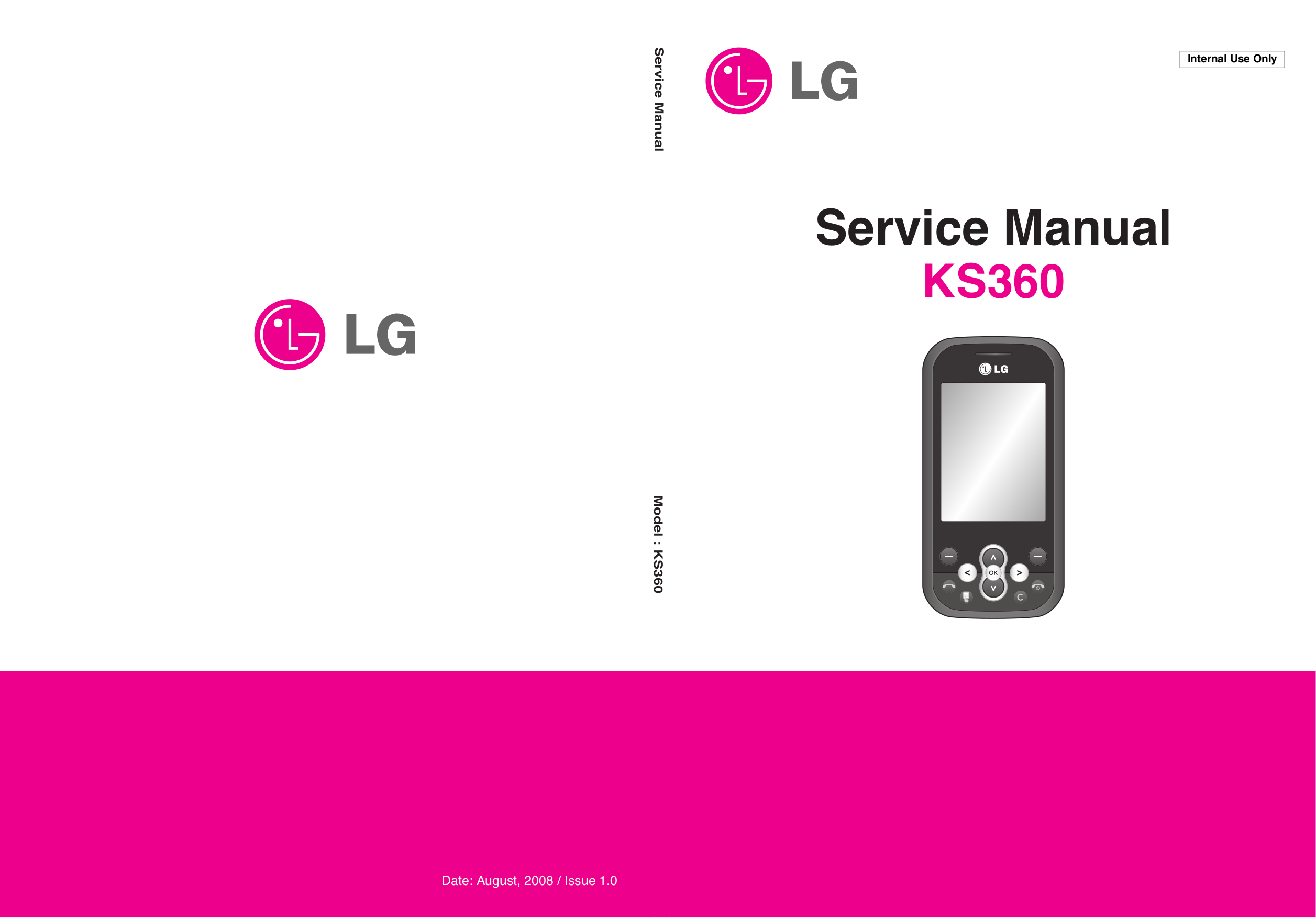 pdf for LG Cell Phone KS360 manual